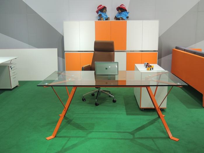 玻璃台面班台 办公桌