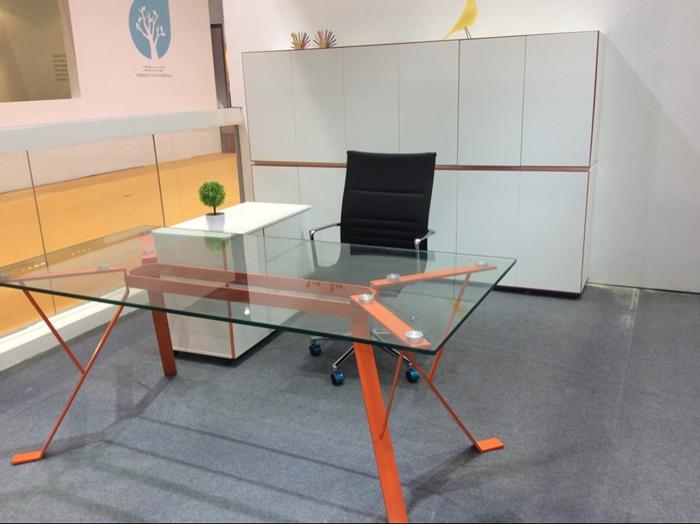 办公桌|玻璃台面班台|玻璃办公桌|迈系列